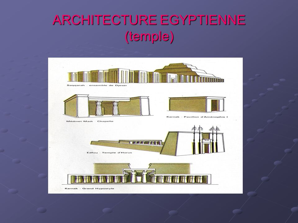 ARCHITECTURE EGYPTIENNE (temple)