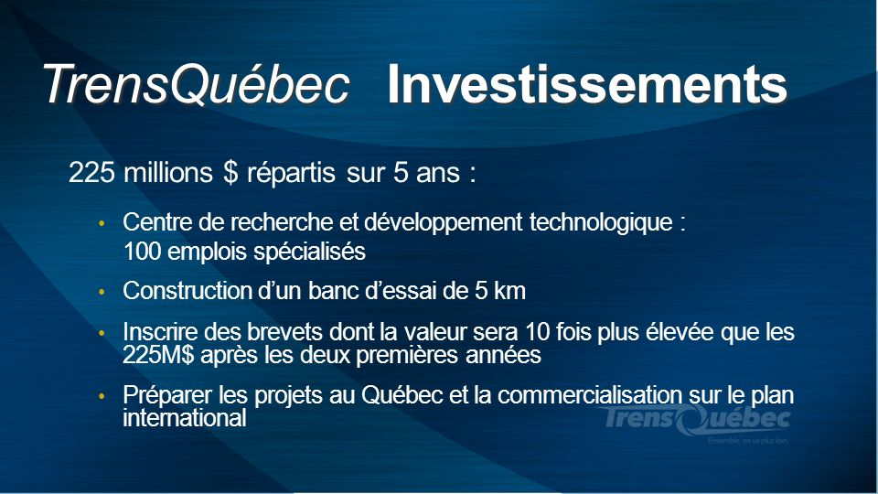TrensQuébec Investissements