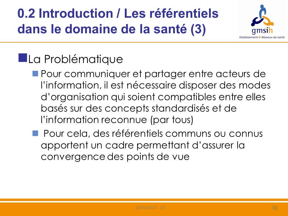 0.2 Introduction / Les référentiels dans le domaine de la santé (3)
