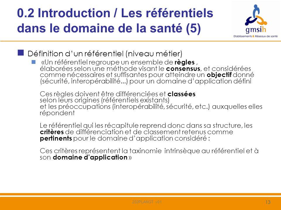 0.2 Introduction / Les référentiels dans le domaine de la santé (5)