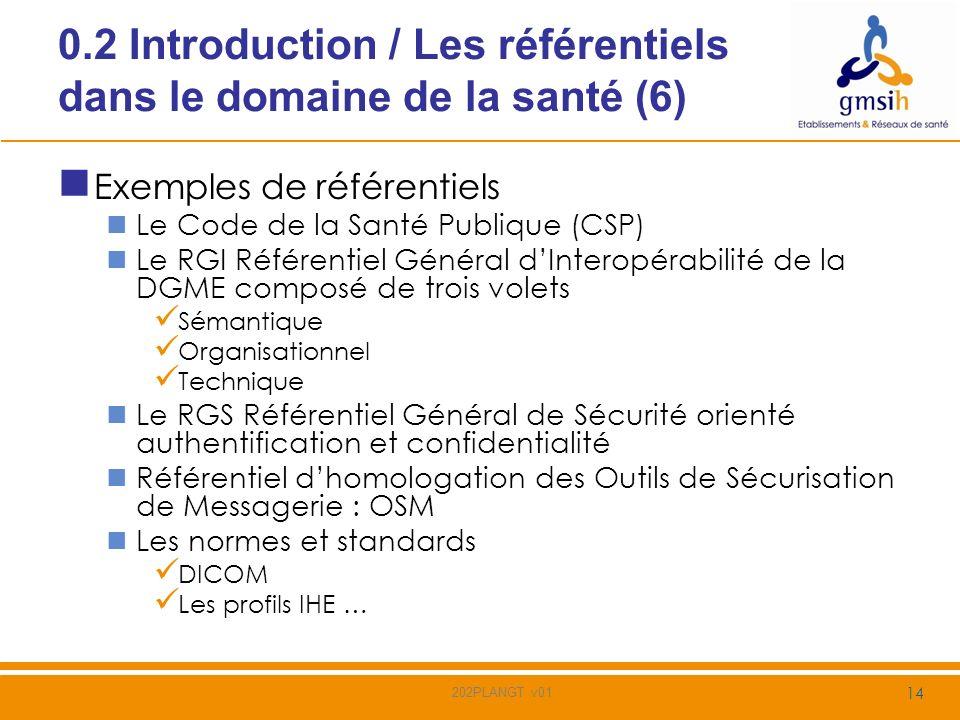 0.2 Introduction / Les référentiels dans le domaine de la santé (6)