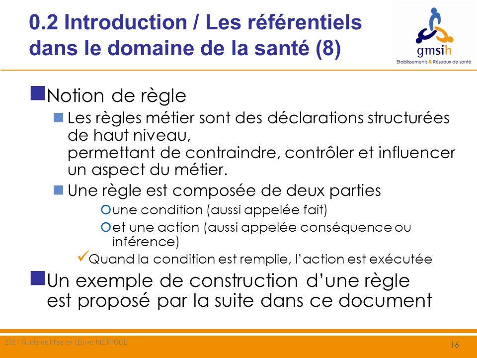 0.2 Introduction / Les référentiels dans le domaine de la santé (8)