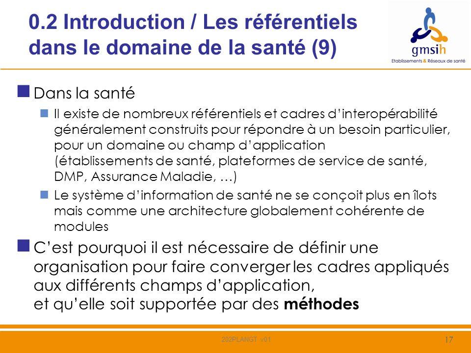 0.2 Introduction / Les référentiels dans le domaine de la santé (9)