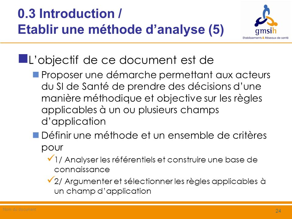 0.3 Introduction / Etablir une méthode d'analyse (5)