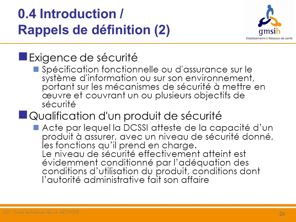 0.4 Introduction / Rappels de définition (2)