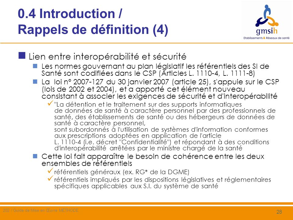 0.4 Introduction / Rappels de définition (4)