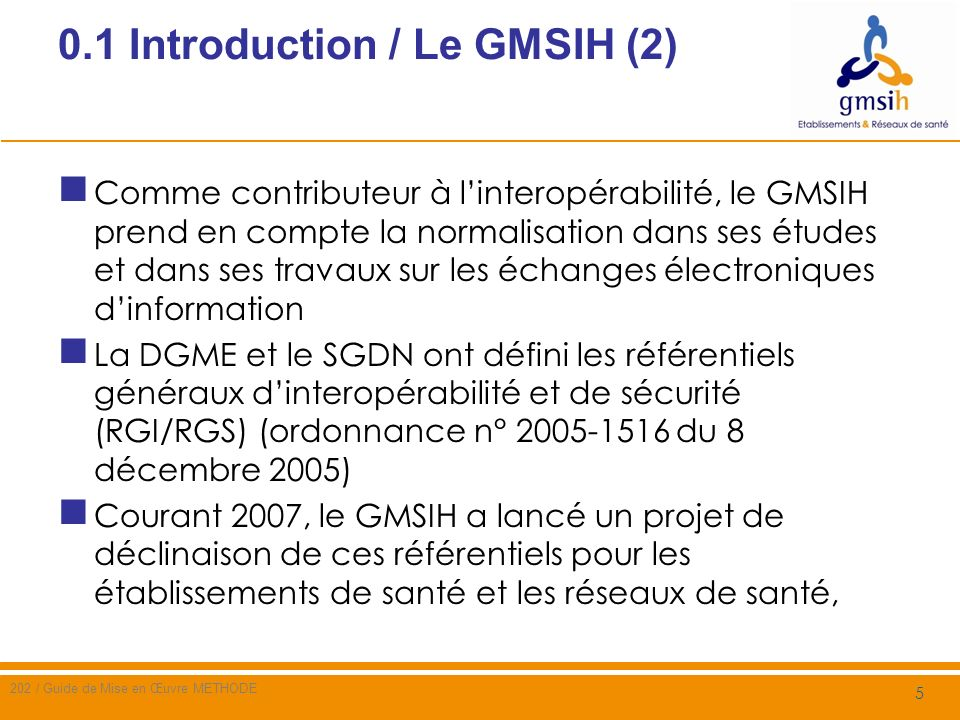 0.1 Introduction / Le GMSIH (2)