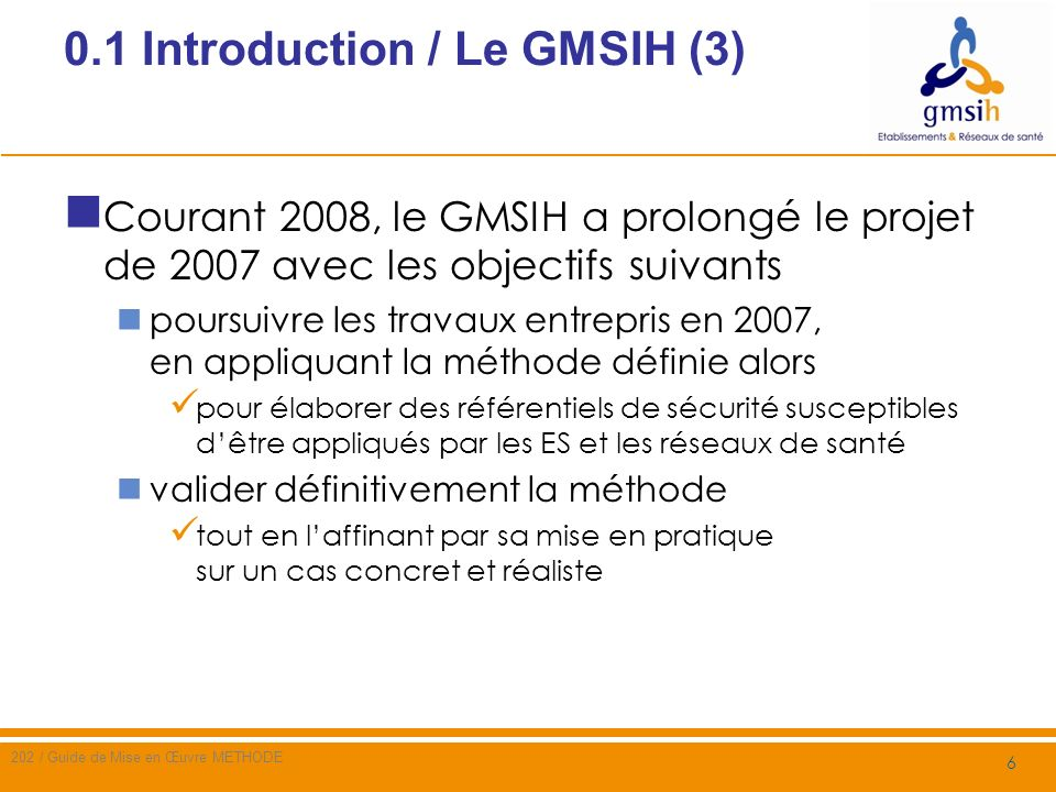 0.1 Introduction / Le GMSIH (3)