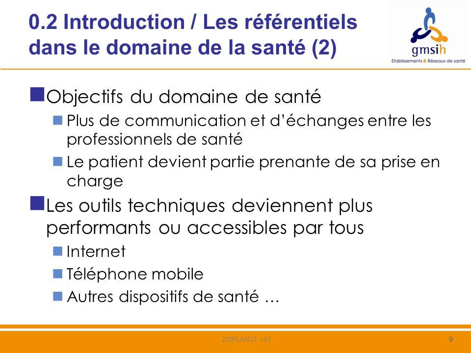 0.2 Introduction / Les référentiels dans le domaine de la santé (2)