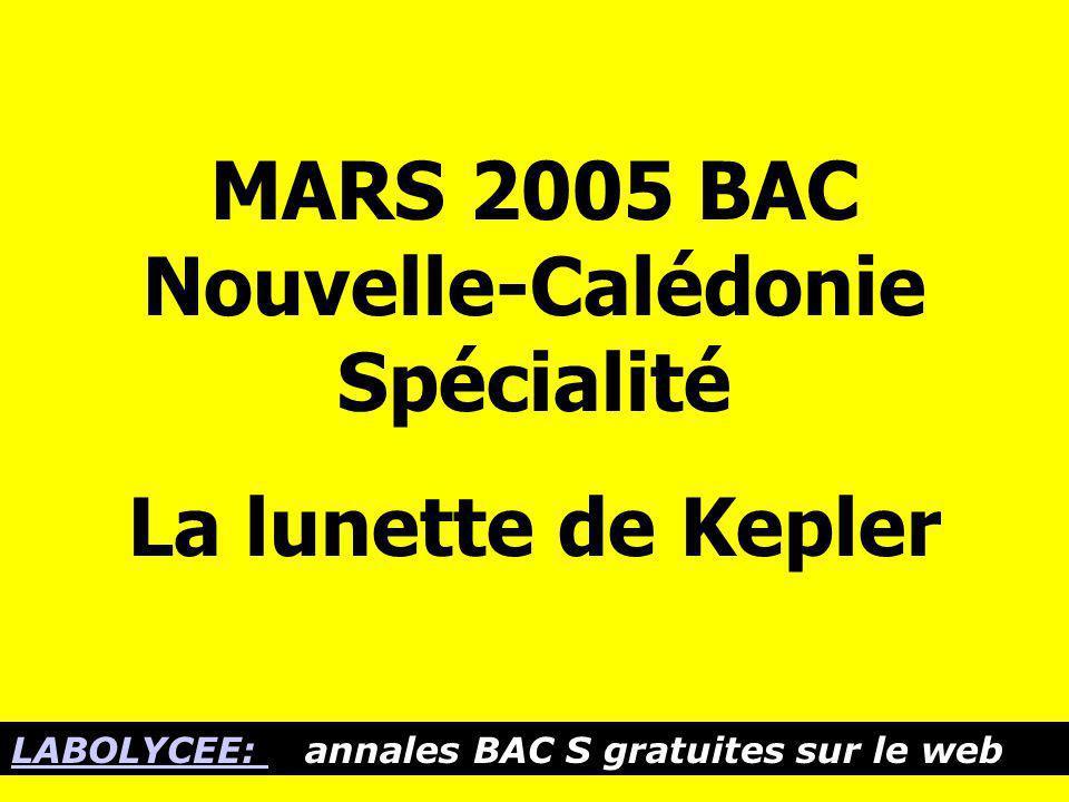 MARS 2005 BAC Nouvelle-Calédonie Spécialité