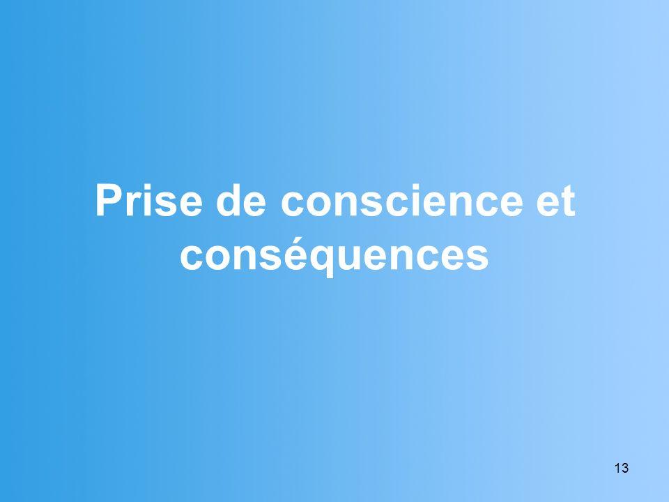 Prise de conscience et conséquences
