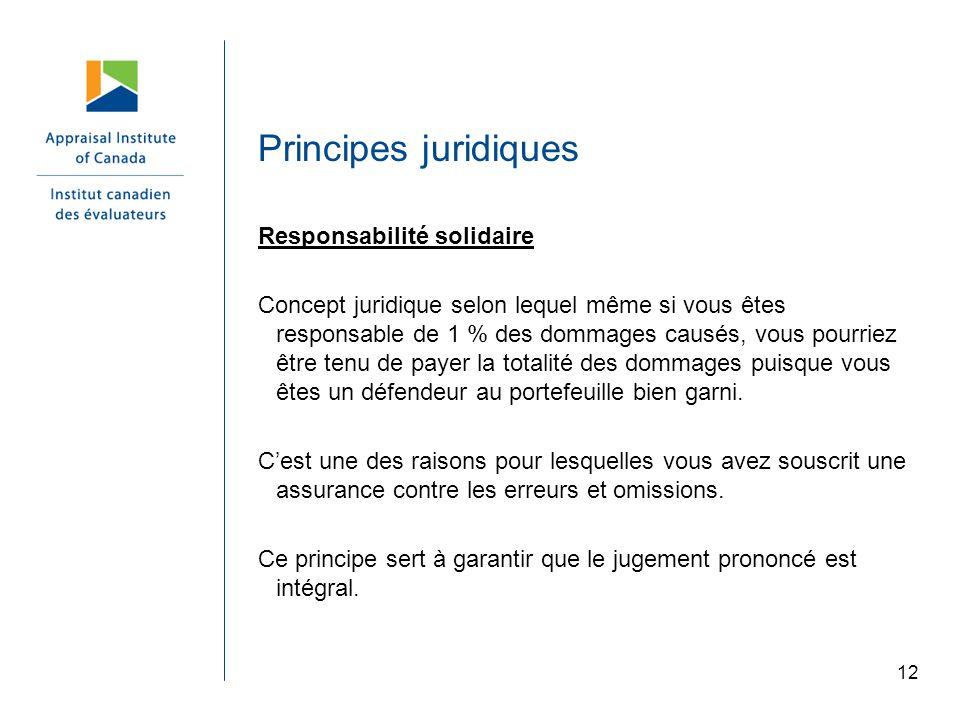 Principes juridiques Responsabilité solidaire