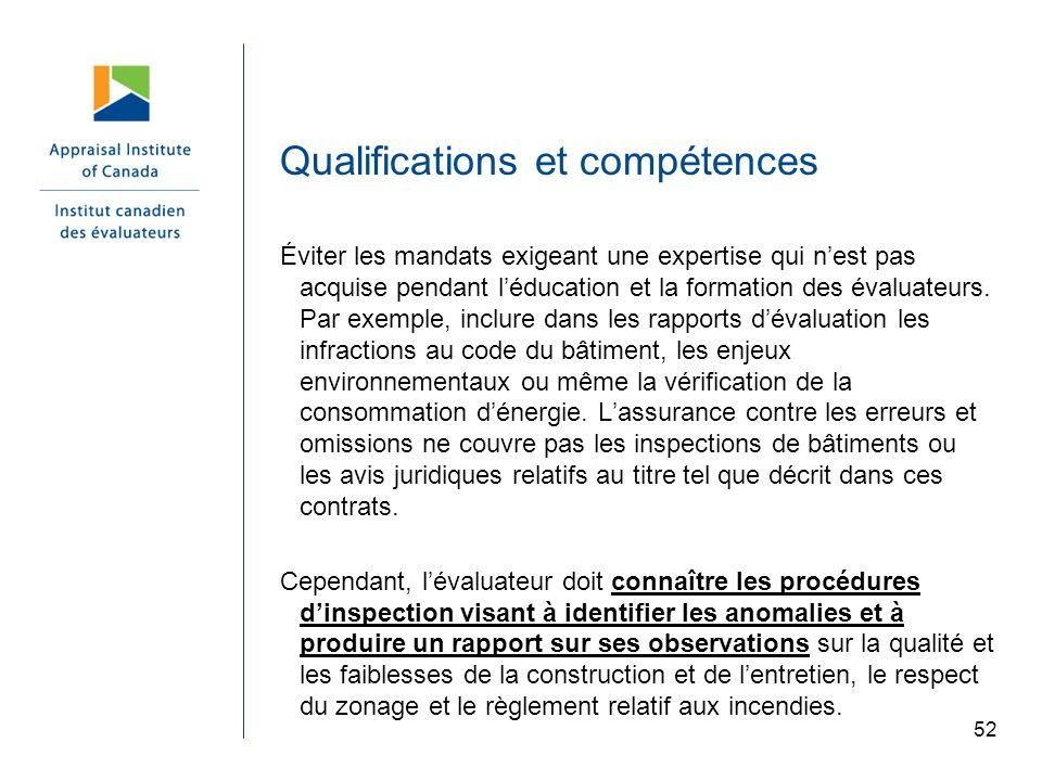 Qualifications et compétences