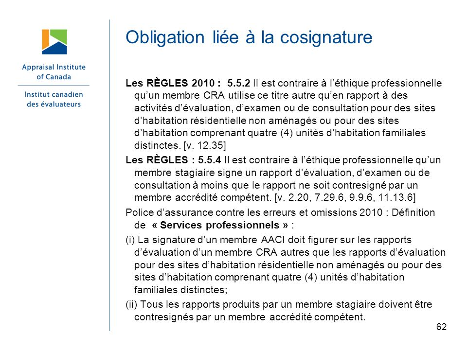 Obligation liée à la cosignature