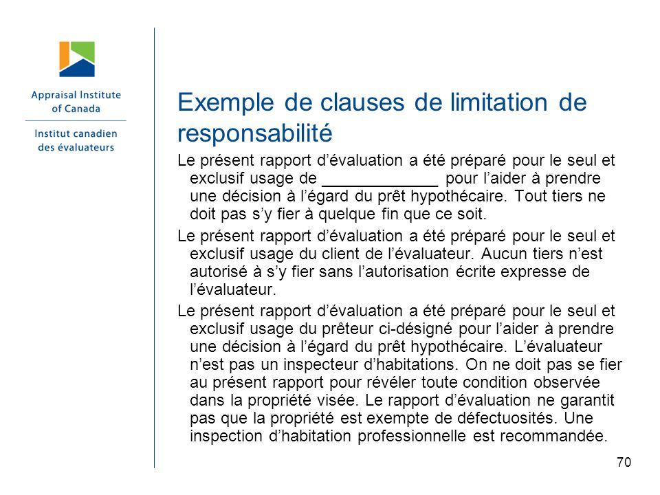 Exemple de clauses de limitation de responsabilité