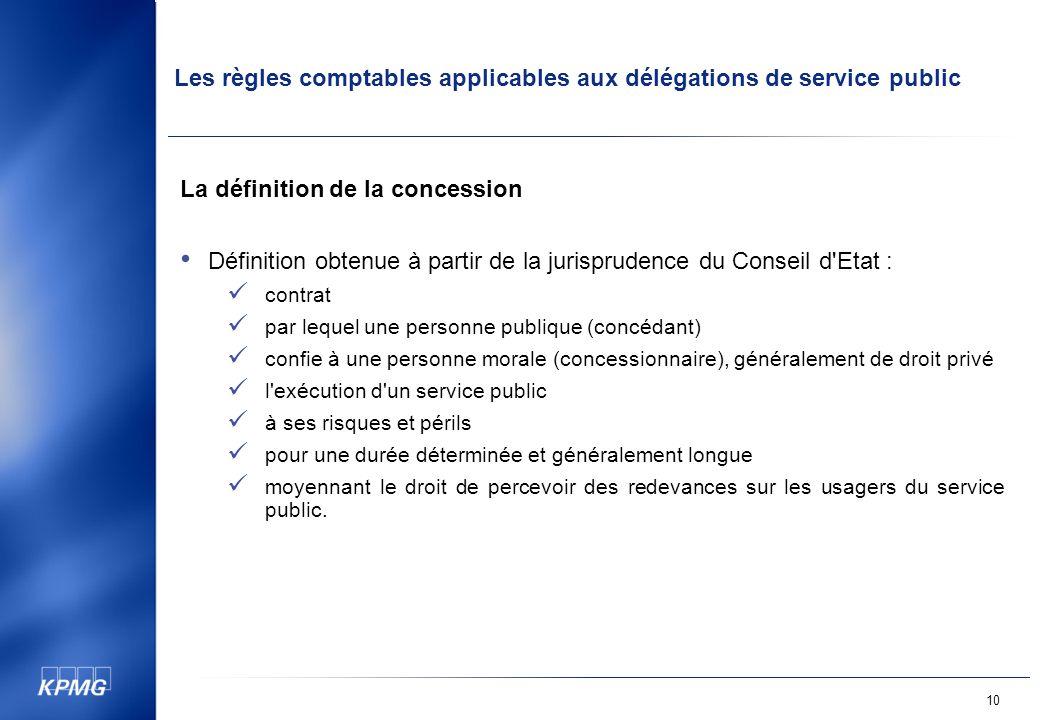 La définition de la concession