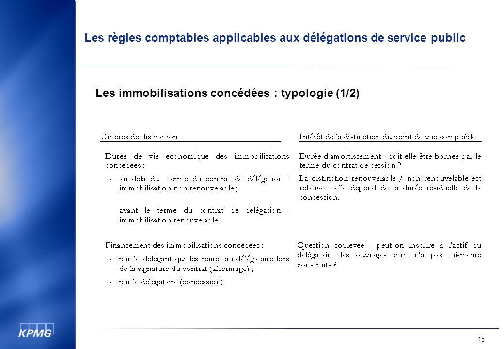 Les immobilisations concédées : typologie (1/2)