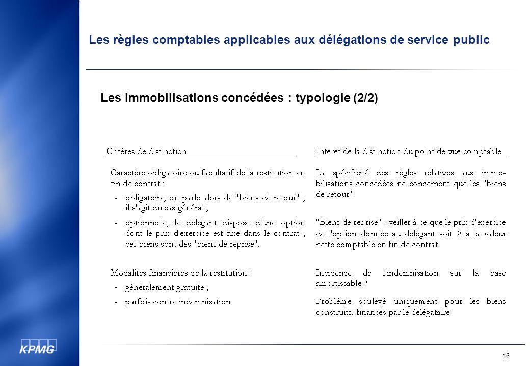 Les immobilisations concédées : typologie (2/2)