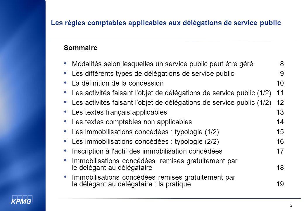 Sommaire Modalités selon lesquelles un service public peut être géré 8. Les différents types de délégations de service public 9.