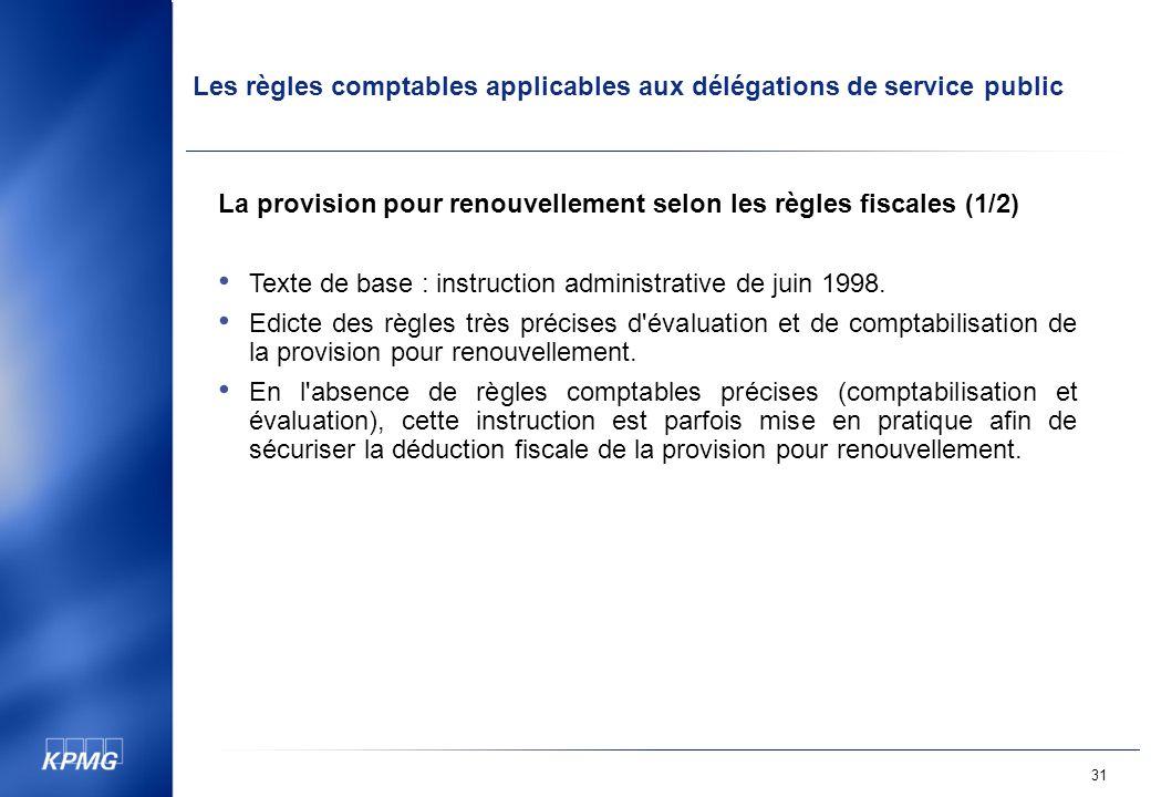 La provision pour renouvellement selon les règles fiscales (1/2)