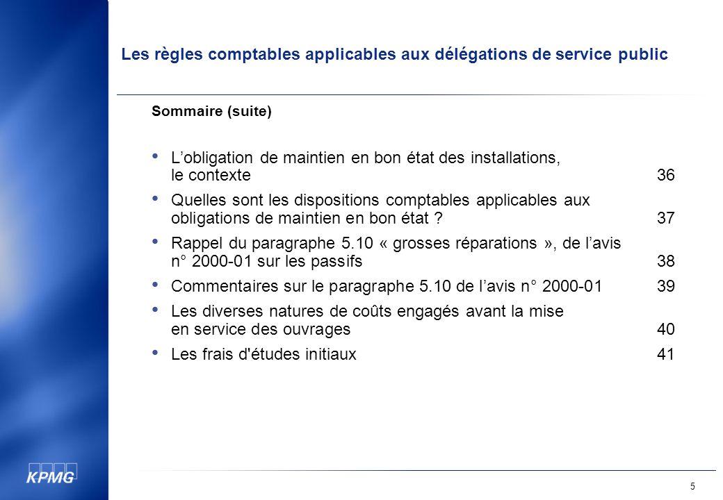 L'obligation de maintien en bon état des installations, le contexte 36