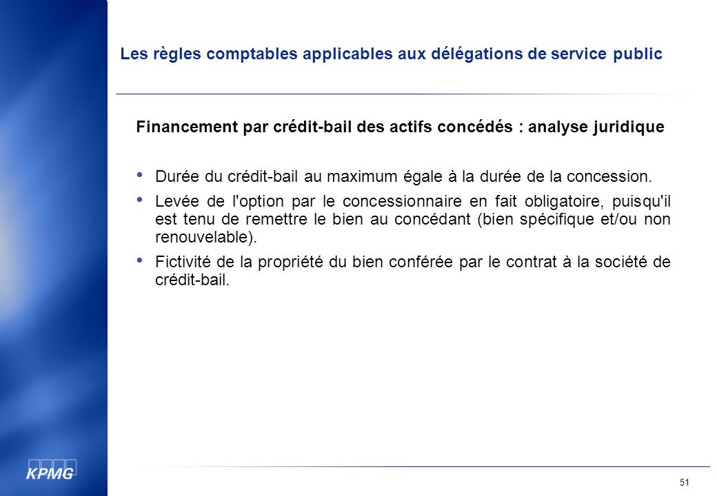 Financement par crédit-bail des actifs concédés : analyse juridique
