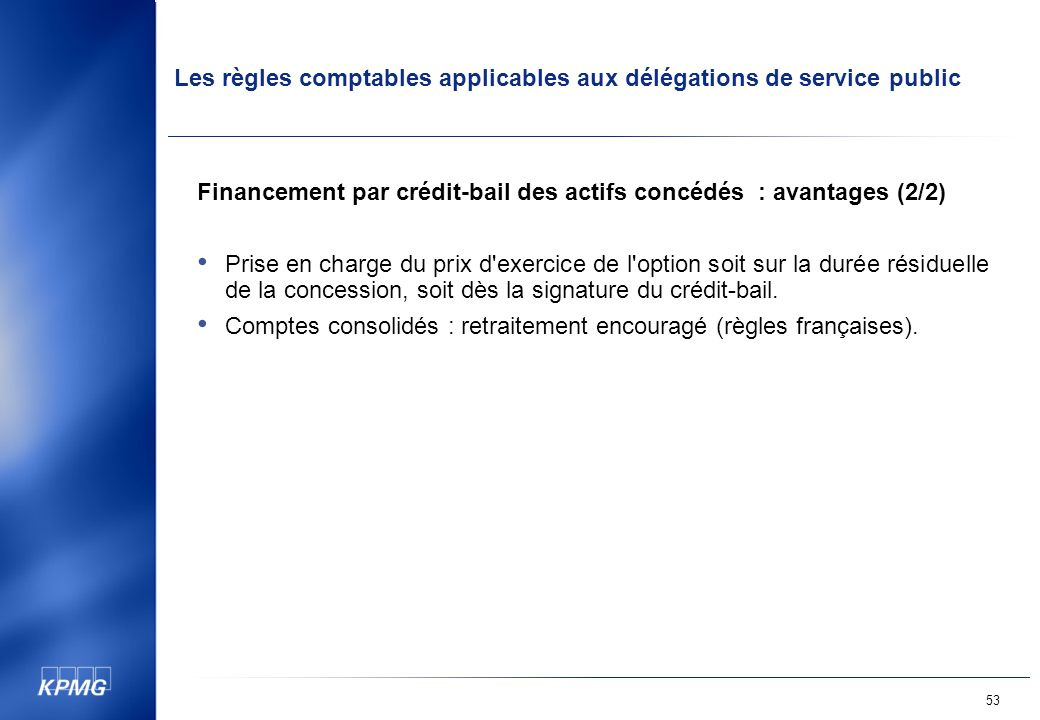 Financement par crédit-bail des actifs concédés : avantages (2/2)
