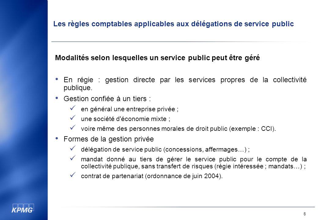 Modalités selon lesquelles un service public peut être géré
