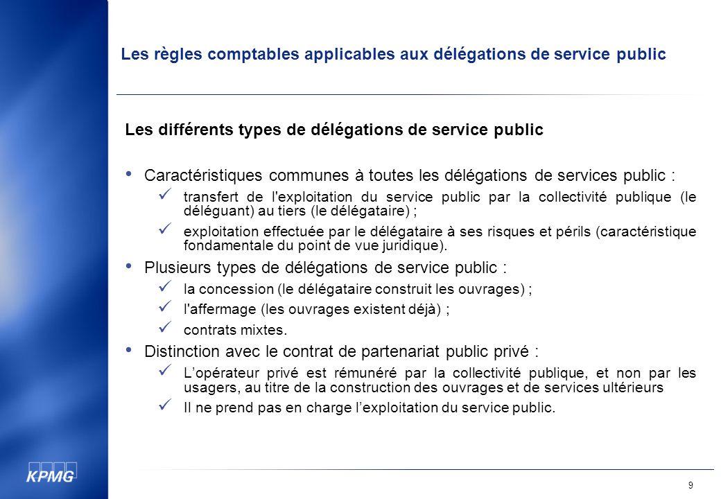 Les différents types de délégations de service public