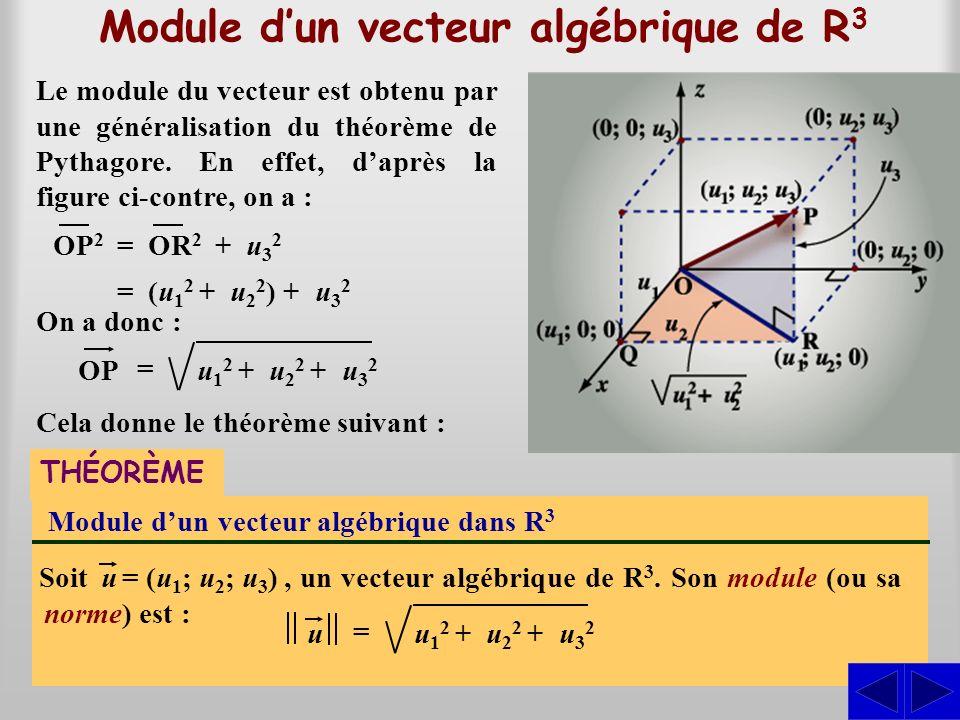 Module d'un vecteur algébrique de R3