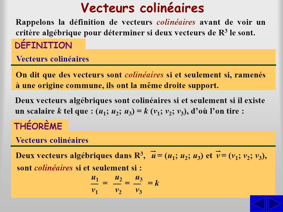 Vecteurs colinéaires