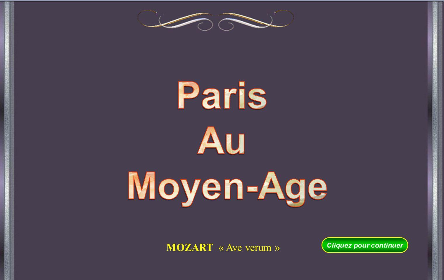 Paris Au Moyen-Age MOZART « Ave verum »
