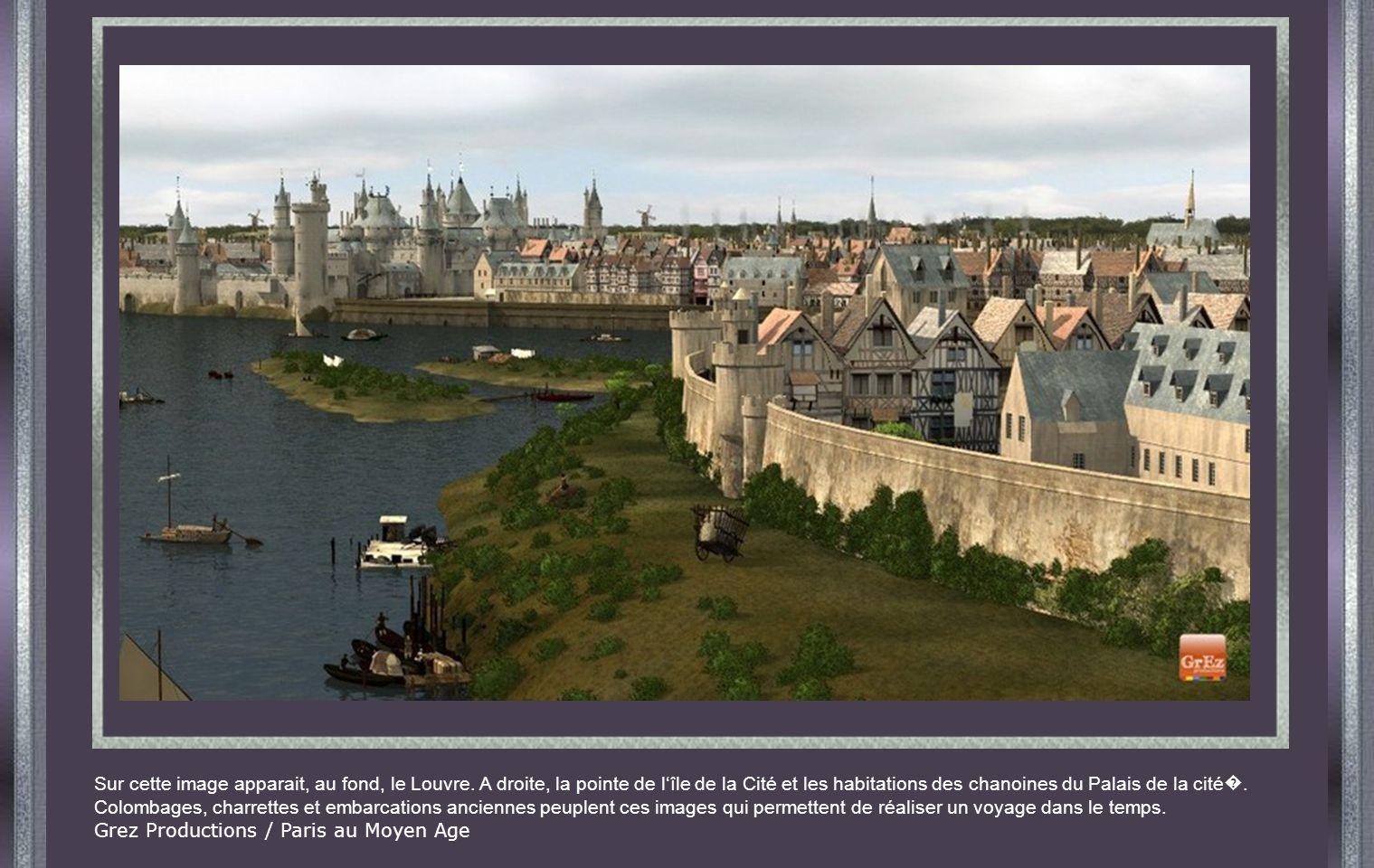 Sur cette image apparait, au fond, le Louvre