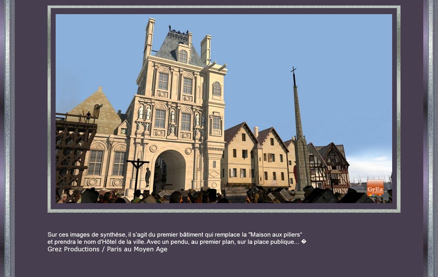 Sur ces images de synthèse, il s agit du premier bâtiment qui remplace la Maison aux piliers
