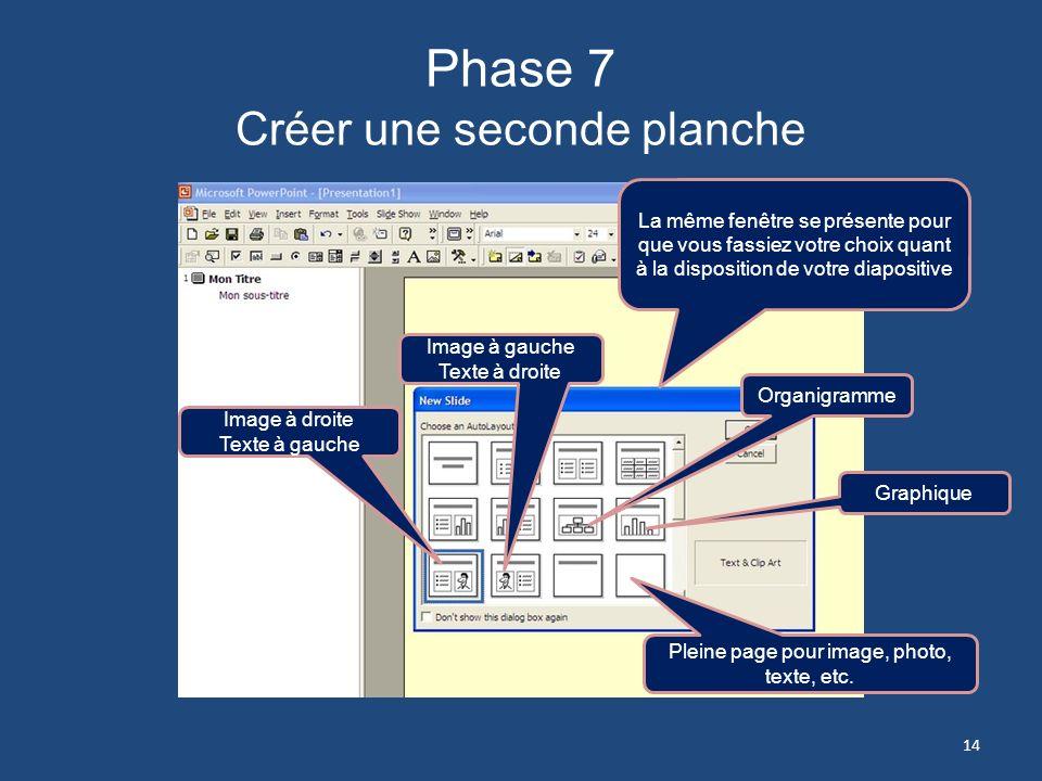 Phase 7 Créer une seconde planche
