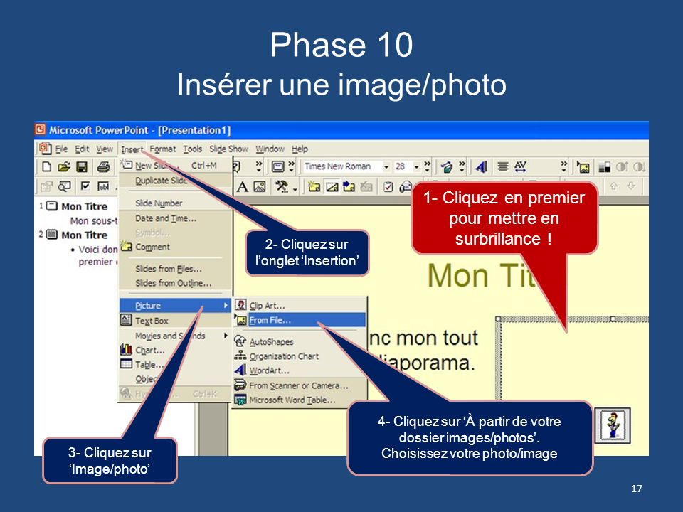 Phase 10 Insérer une image/photo
