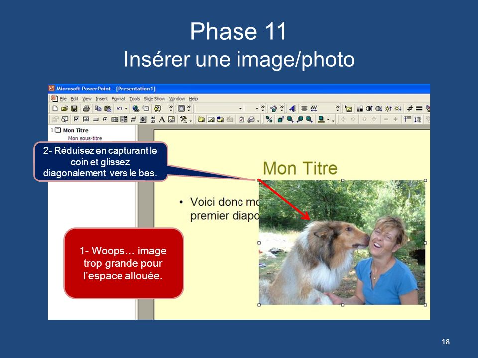 Phase 11 Insérer une image/photo
