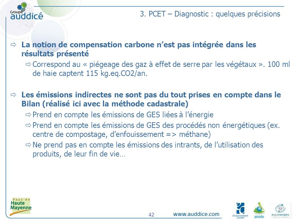 3. PCET – Diagnostic : quelques précisions