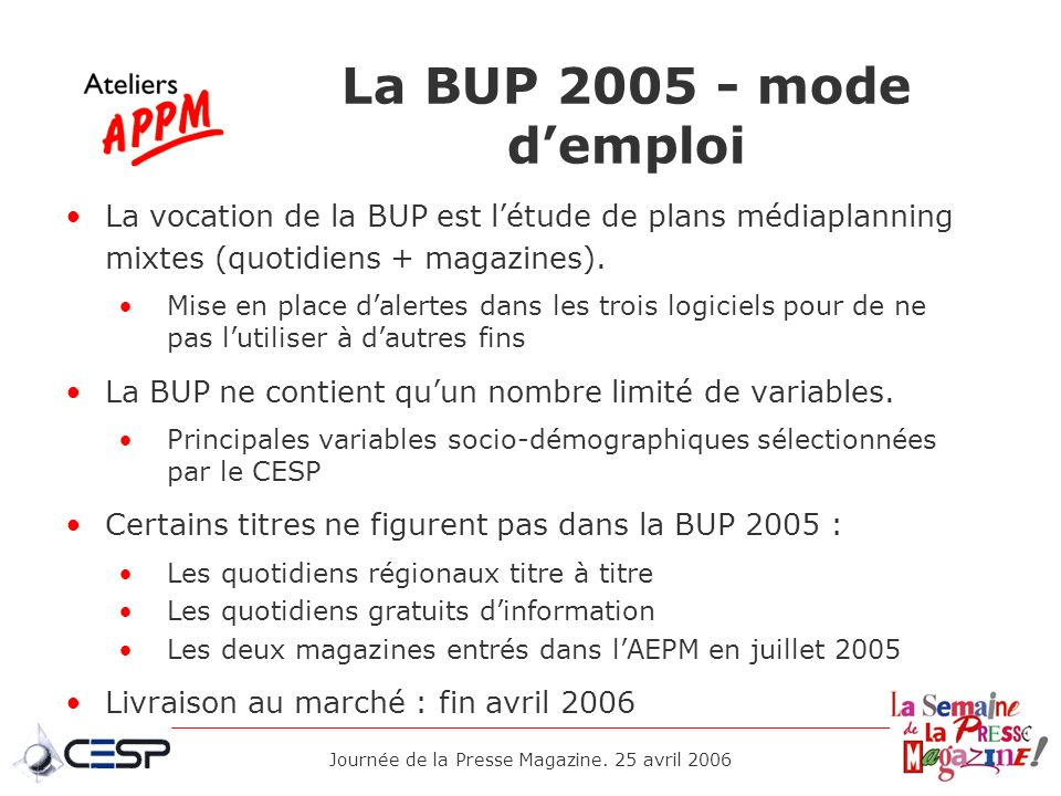 Journée de la Presse Magazine. 25 avril 2006