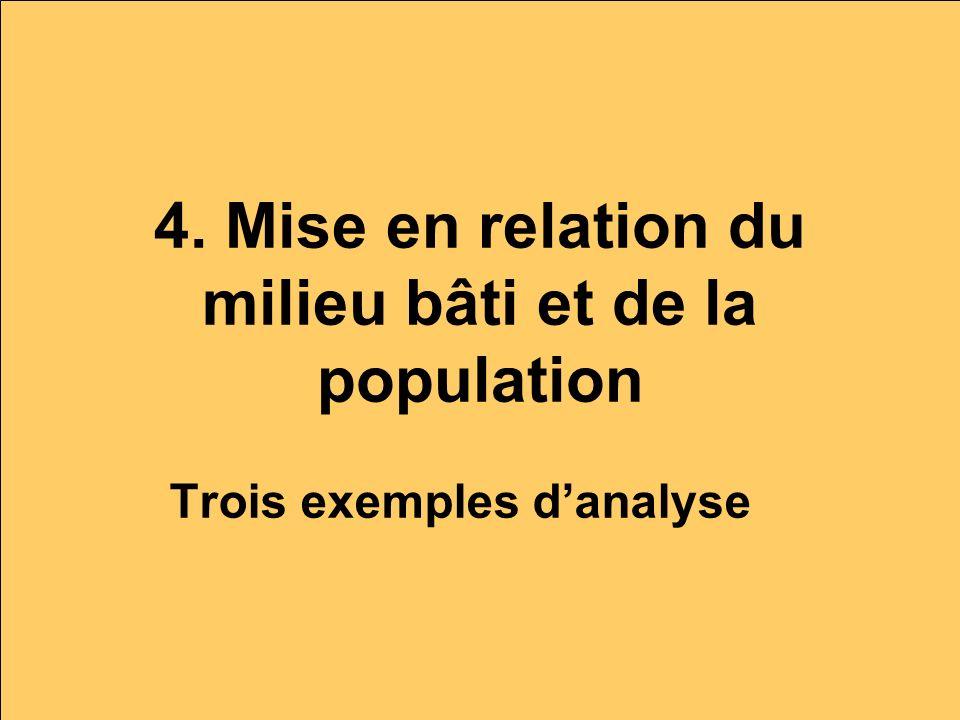 4. Mise en relation du milieu bâti et de la population