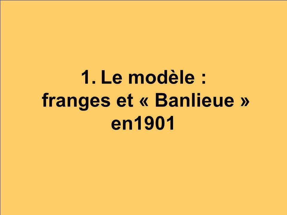 1. Le modèle : franges et « Banlieue » en1901