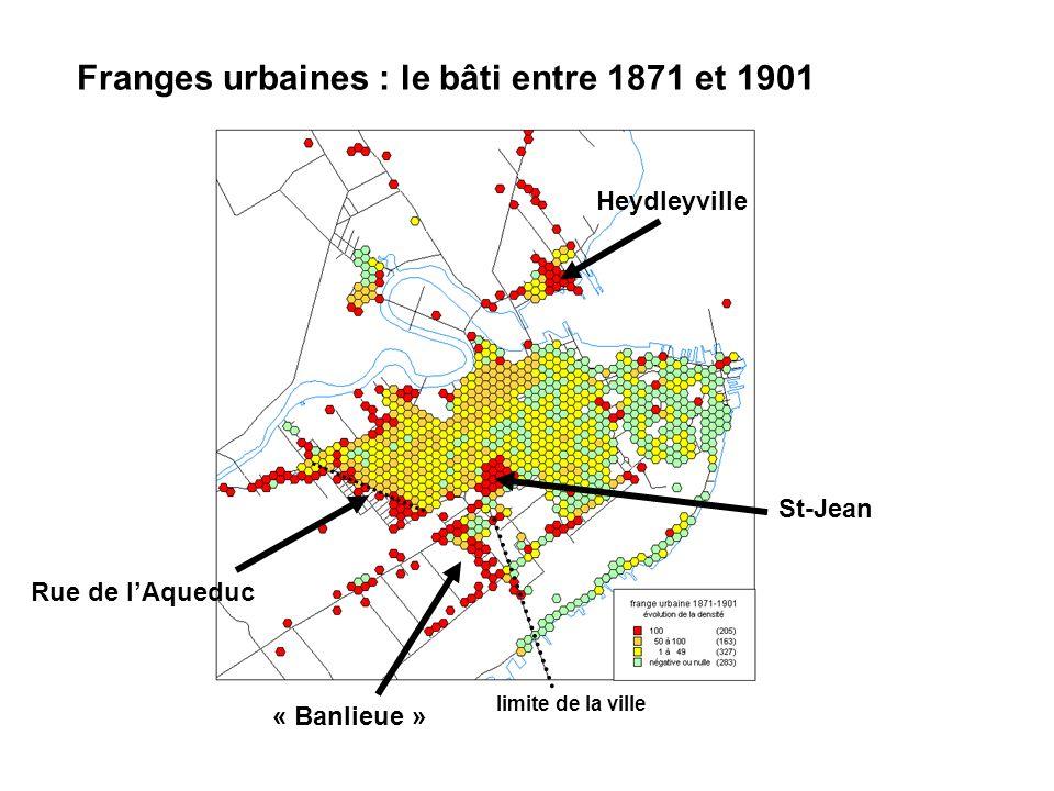 Franges urbaines : le bâti entre 1871 et 1901