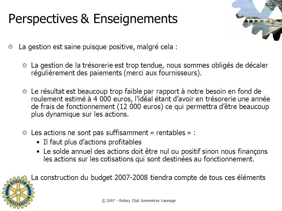 Perspectives & Enseignements