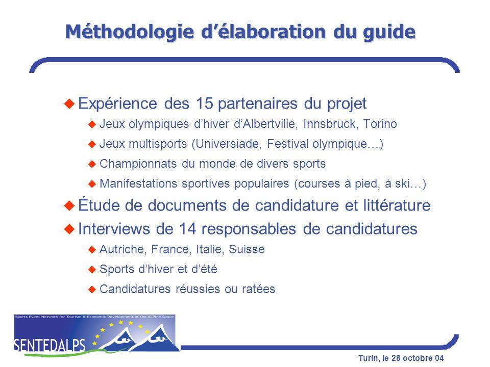 Méthodologie d'élaboration du guide