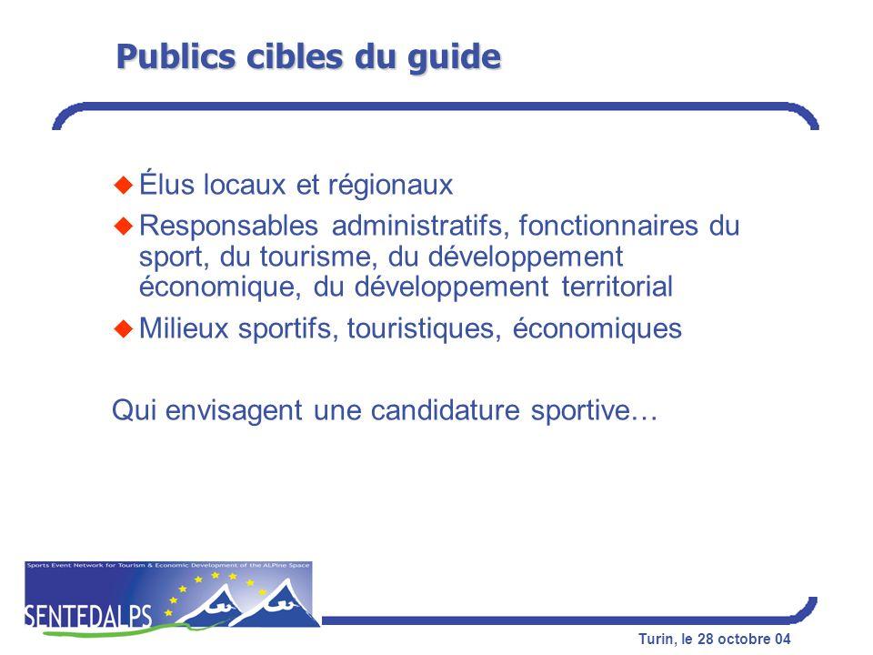 Publics cibles du guide