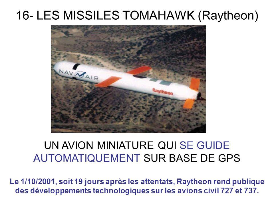 16- LES MISSILES TOMAHAWK (Raytheon)