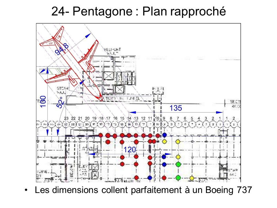 24- Pentagone : Plan rapproché