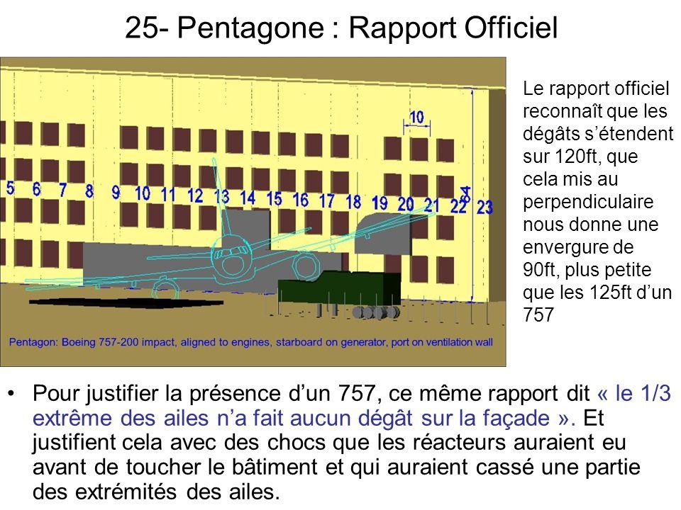 25- Pentagone : Rapport Officiel