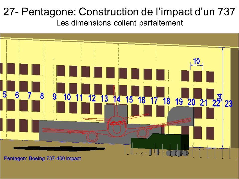 27- Pentagone: Construction de l'impact d'un 737 Les dimensions collent parfaitement