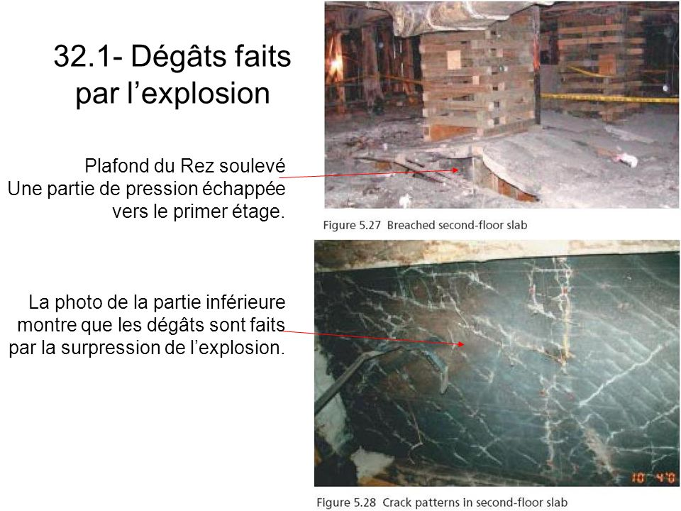 32.1- Dégâts faits par l'explosion